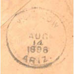 Winslow Ariz. Saturday August 14, 1898 Backstamp