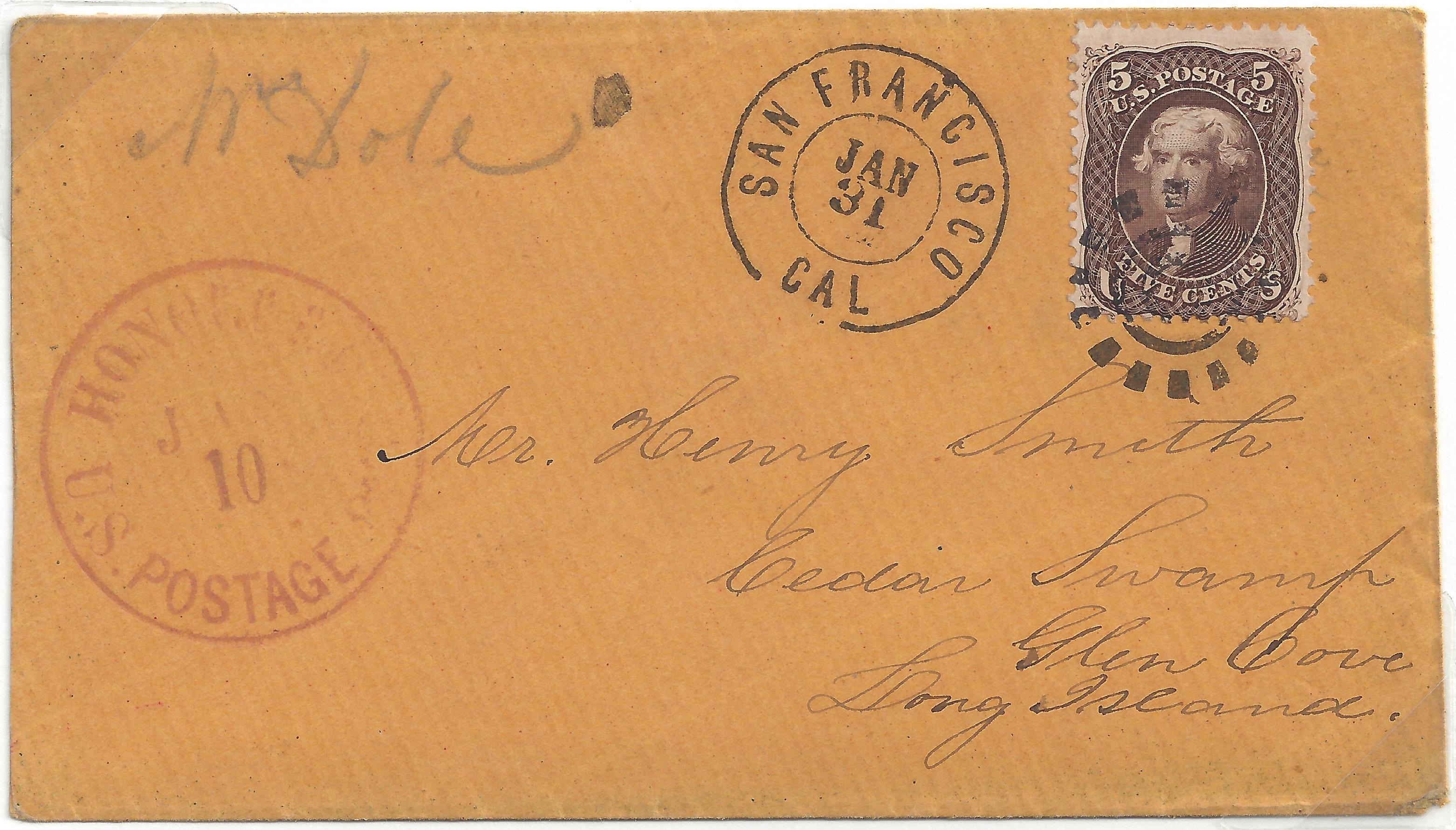 Suburban 20140525 5 014 Honolulu Jan 10, 66 Haw Postage In Cash (76)