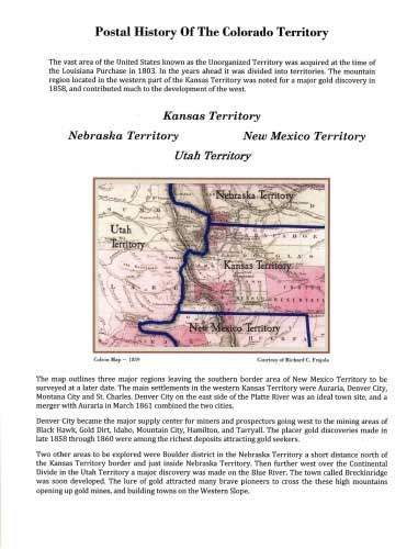 Postal History Of The Colorado Territory
