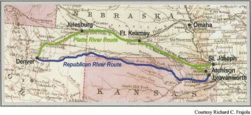 Jones & Russell Pike's Peak Express Route