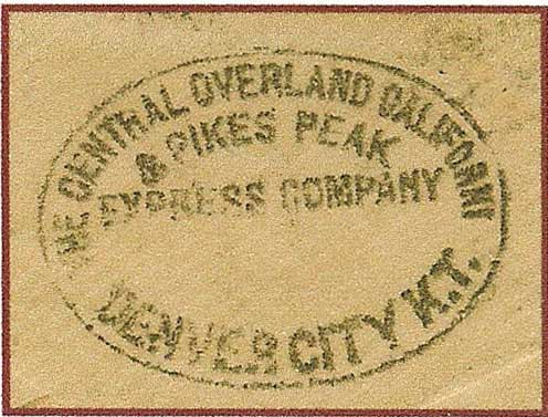 Central Overland California & Pike's Peak Express Company Handstamp