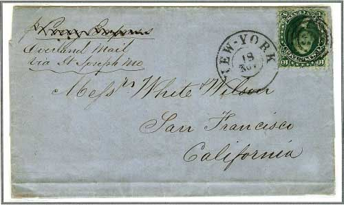 New York, November 18, 1861 ~ To Messr's White & Wilson, San Francisco, California