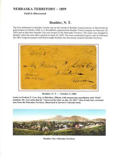 Nebraska Territory - 1859 - Boulder