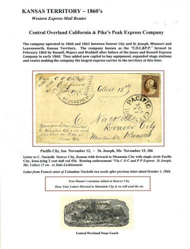Central Overland California & Pike's Peak Express Company