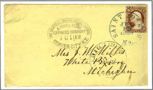 Hinckley Co. Express July 11, 1860 to Denver City, K. T.