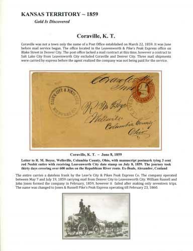 Kansas Territory - 1859 - Coraville, K. T.