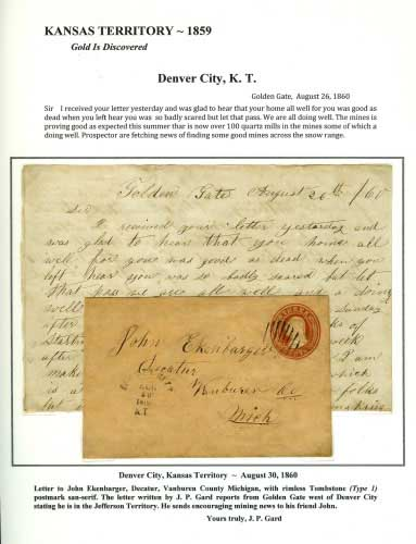 Kansas Territory - 1859 - Denver City, K. T.