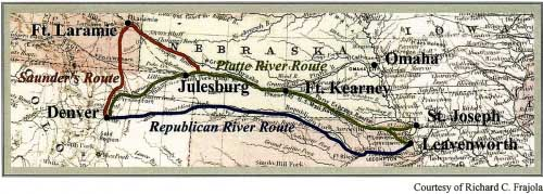 Overland Mail Routes