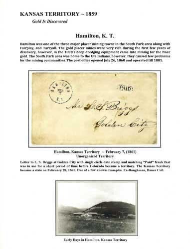 Kansas Territory - 1859 - Hamilton, K. T.