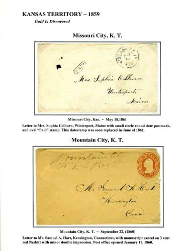 Kansas Territory - 1859 - Missouri City, K. T.