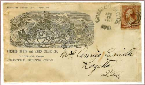 Cr~st~d Butte, Colorado April29, 1886 ~ Rec'd Oquawka, Illinois May 3, 1886