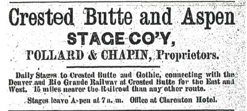 Crested Butte - March 2, 1886