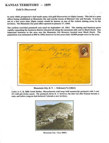 Kansas Territory - 1859 - Mountain City, K. T.