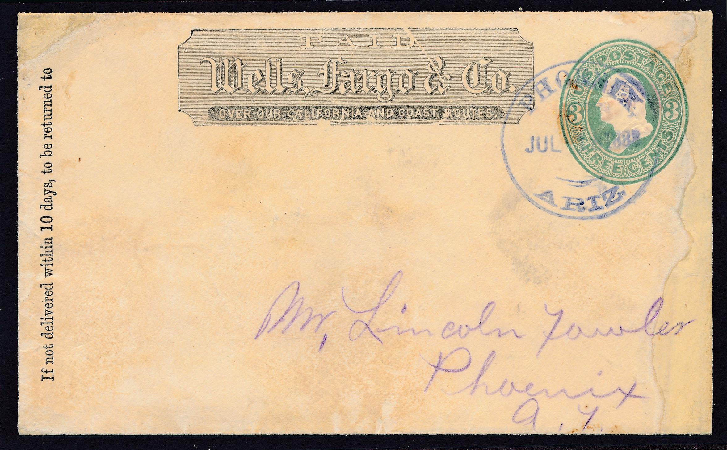 0041 Cover Wells Fargo Phoenix Receiving Cancel