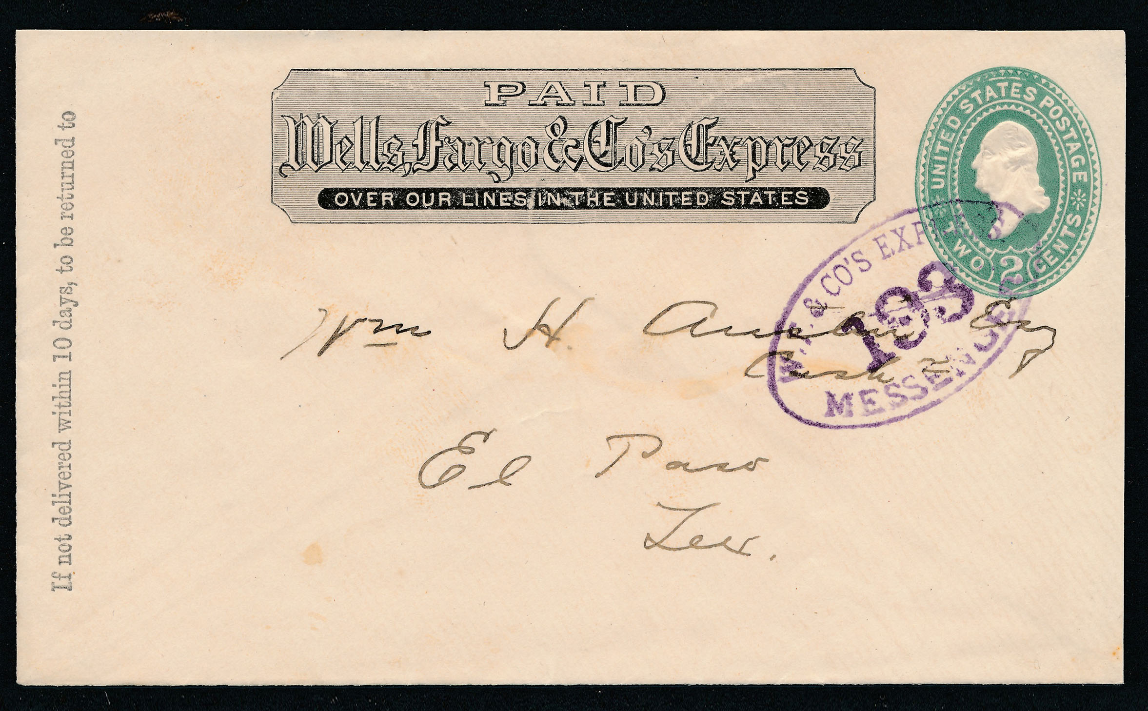 0053 2 Covers Wells Fargo Tuscan And Messanger Cancels B