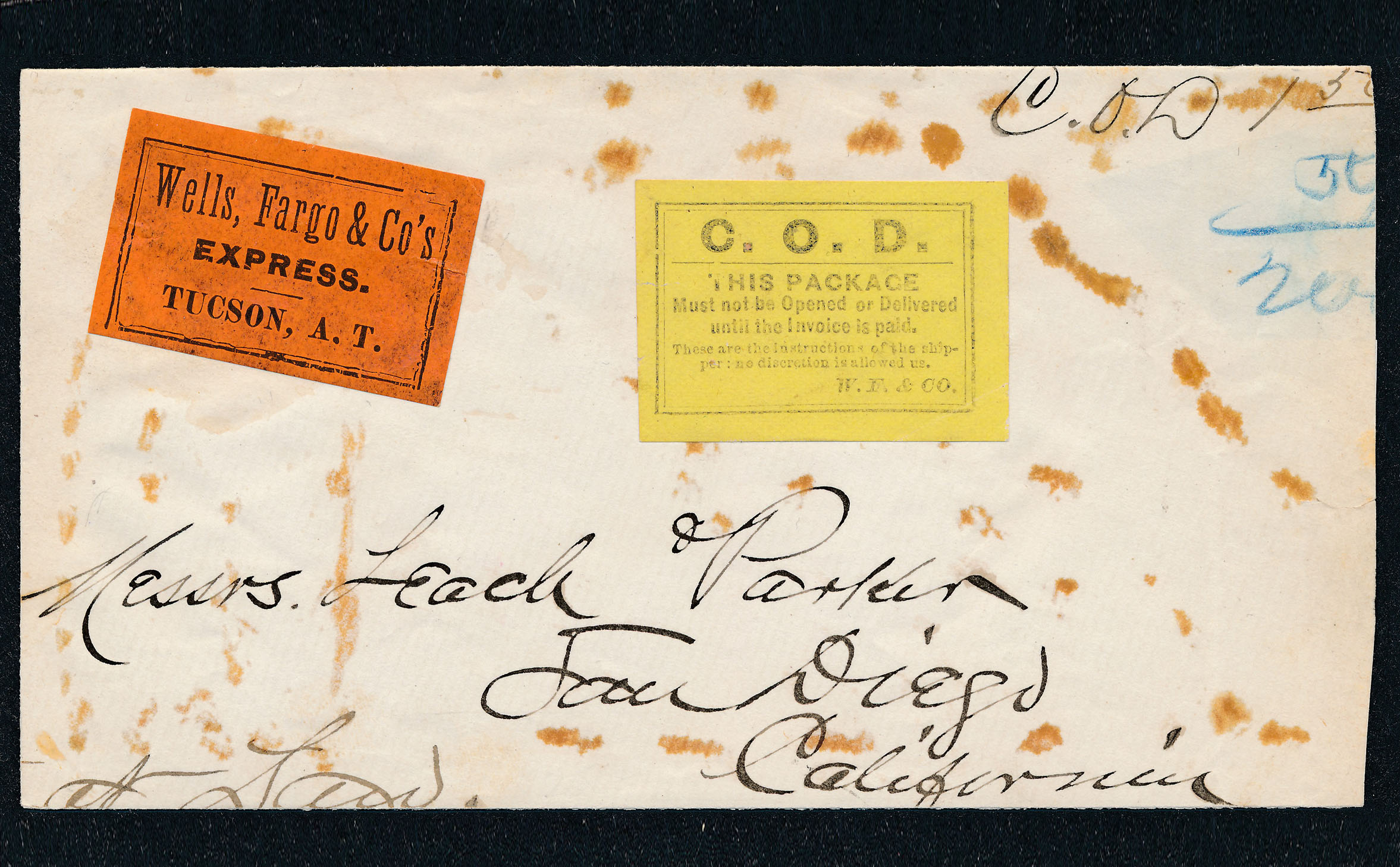 0053 2 Covers Wells Fargo Tuscan And Messanger Cancels T