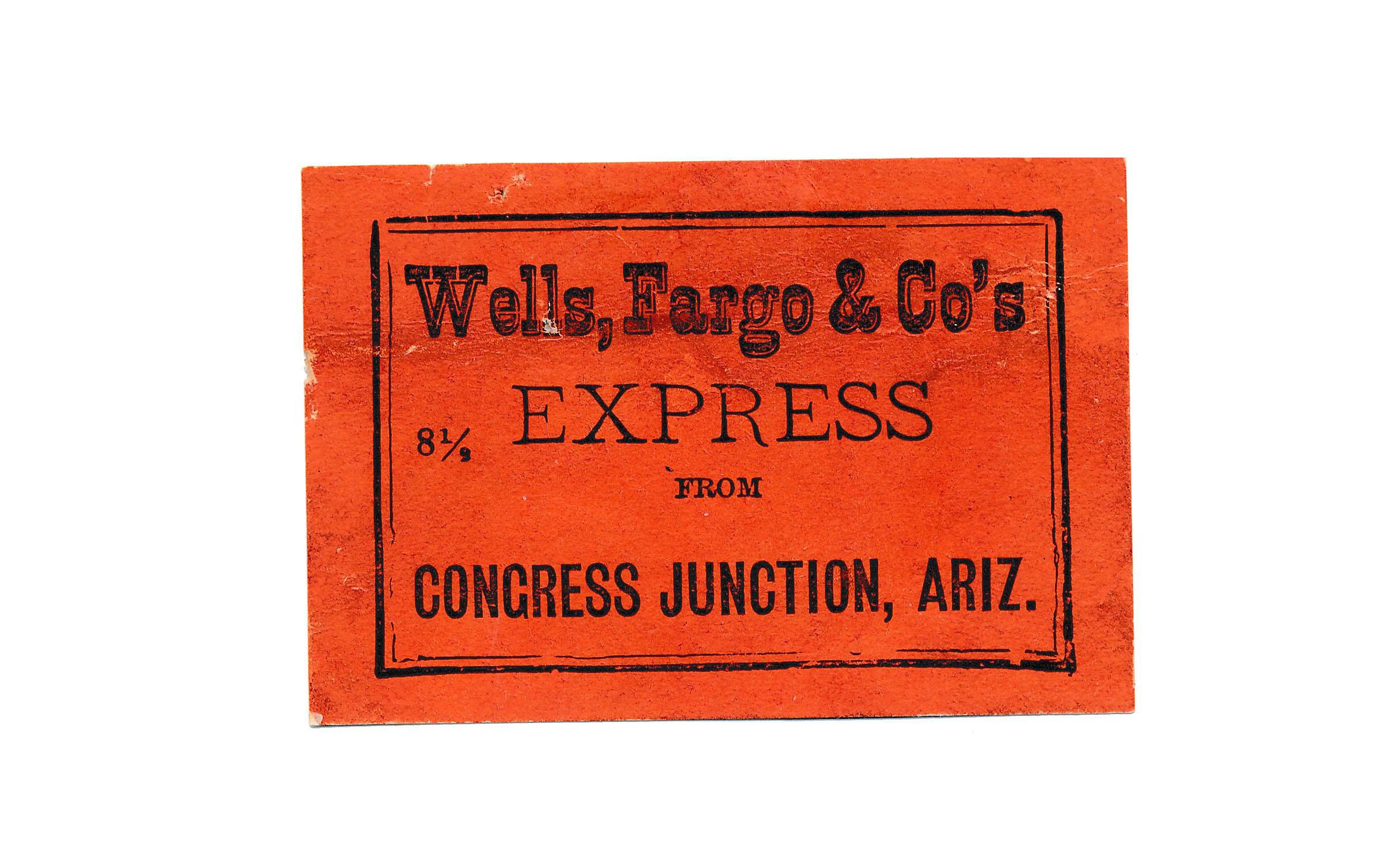 0078 4 Labels Wells Fargo 1 Congress Junction 2 Hot Springs 1 Mayer A