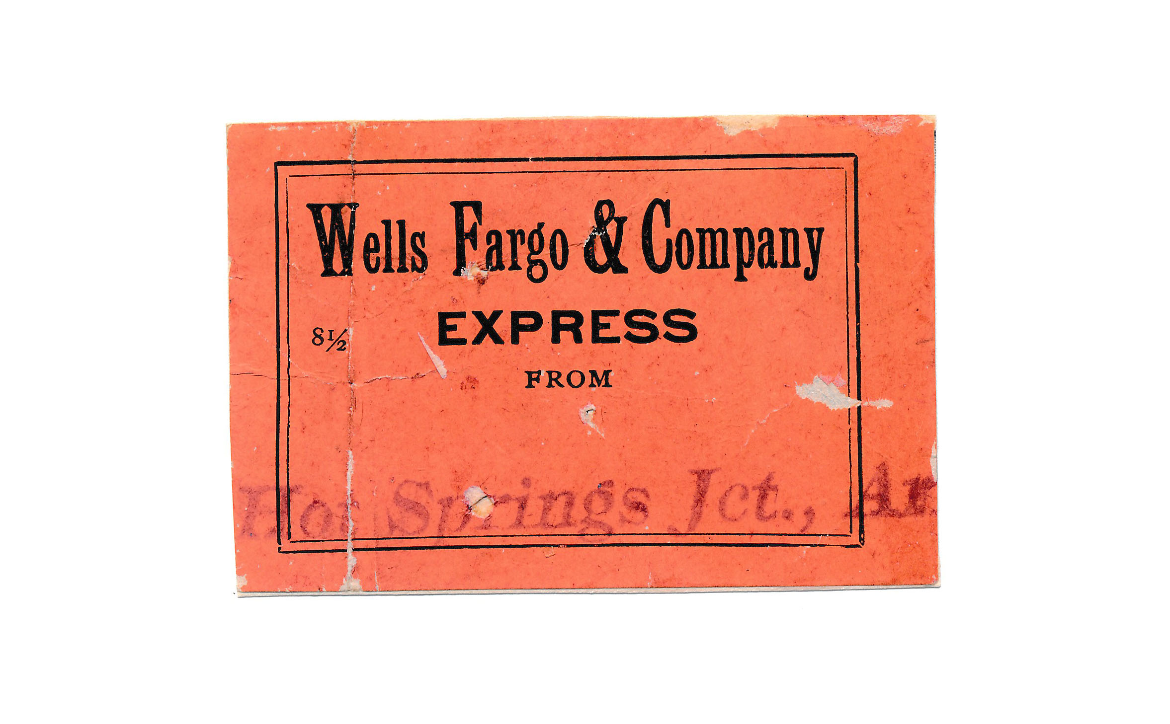 0078 4 Labels Wells Fargo 1 Congress Junction 2 Hot Springs 1 Mayer B