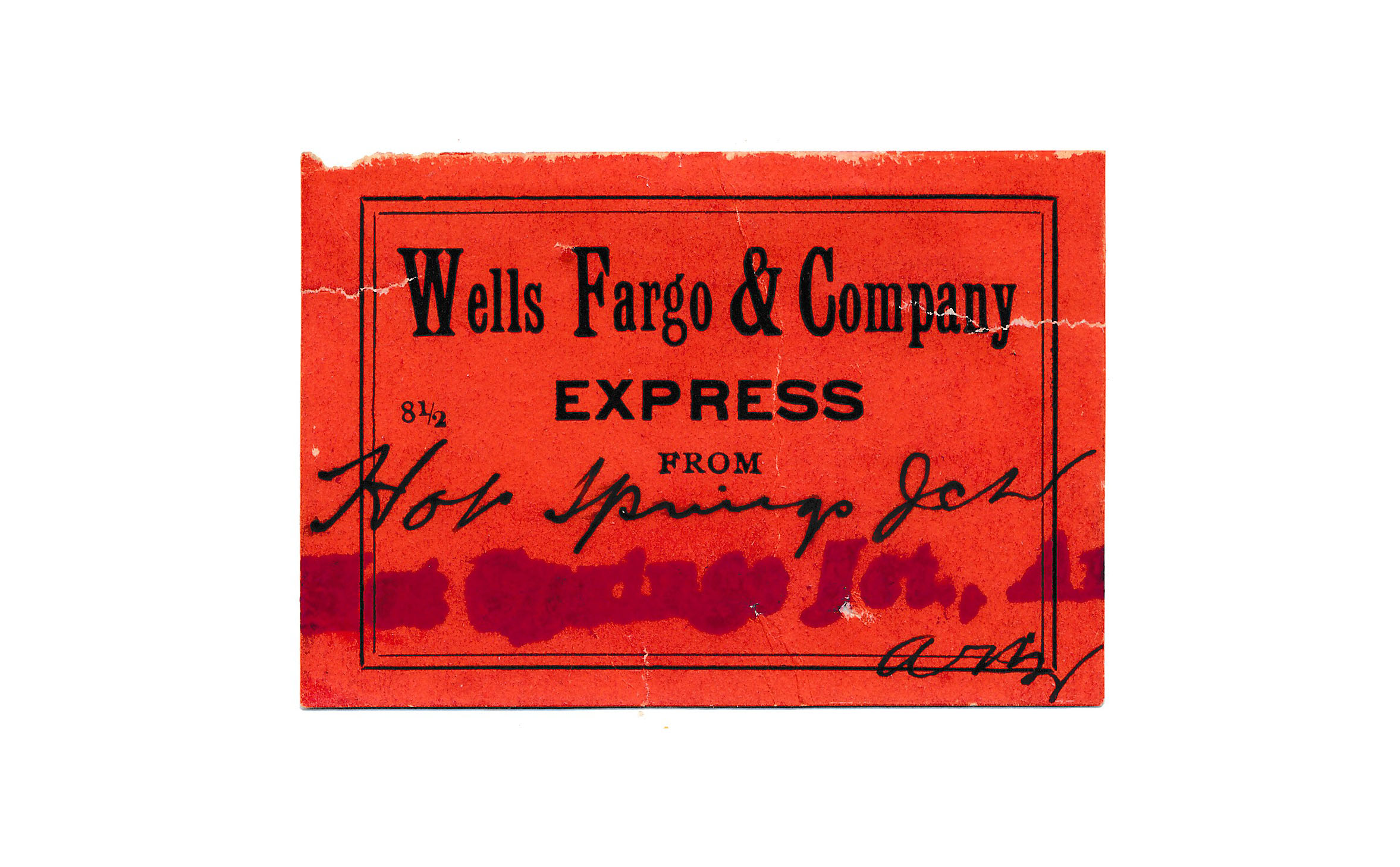 0078 4 Labels Wells Fargo 1 Congress Junction 2 Hot Springs 1 Mayer C