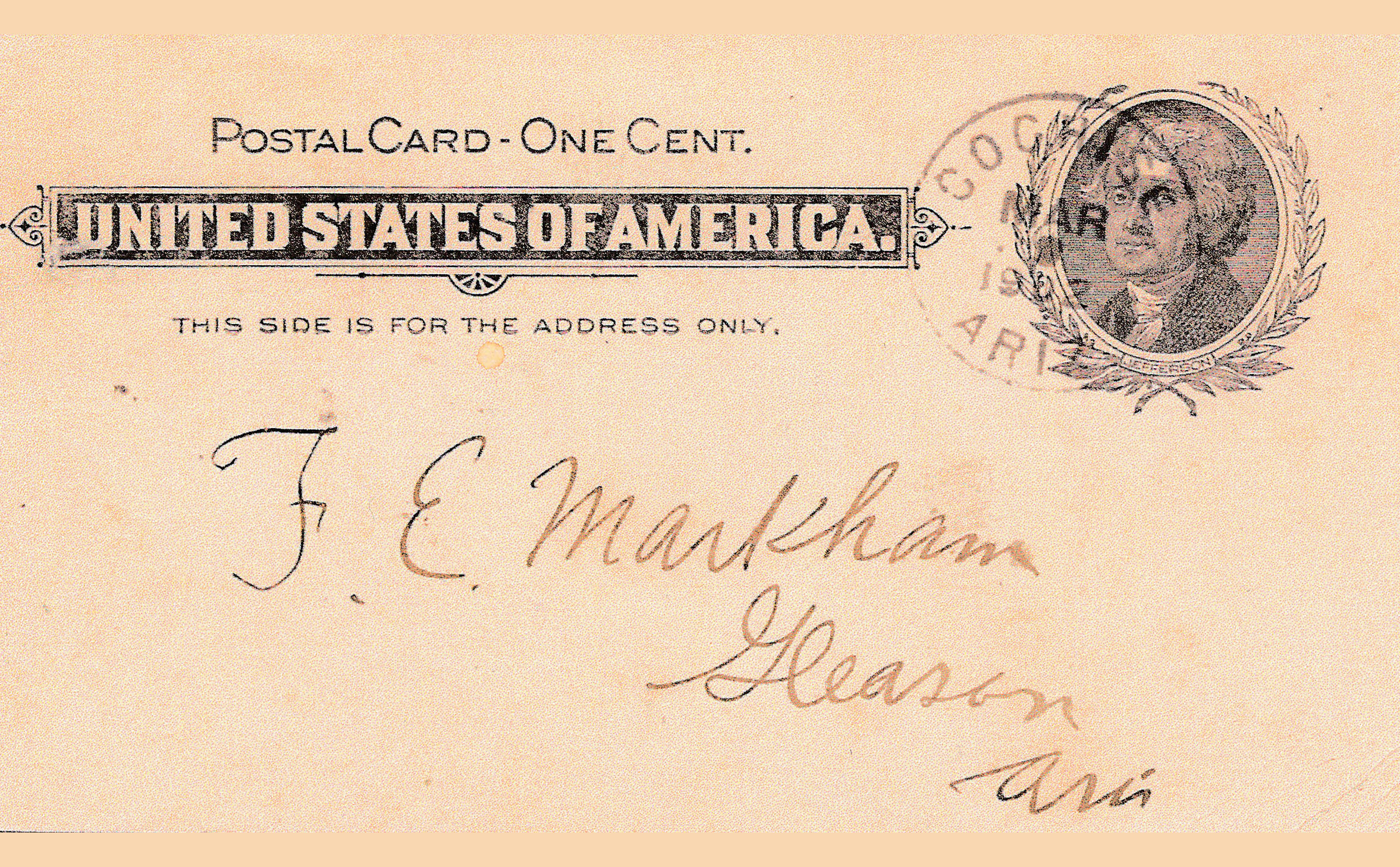 0081 Postal Card Notice Wells Fargo Cochise B