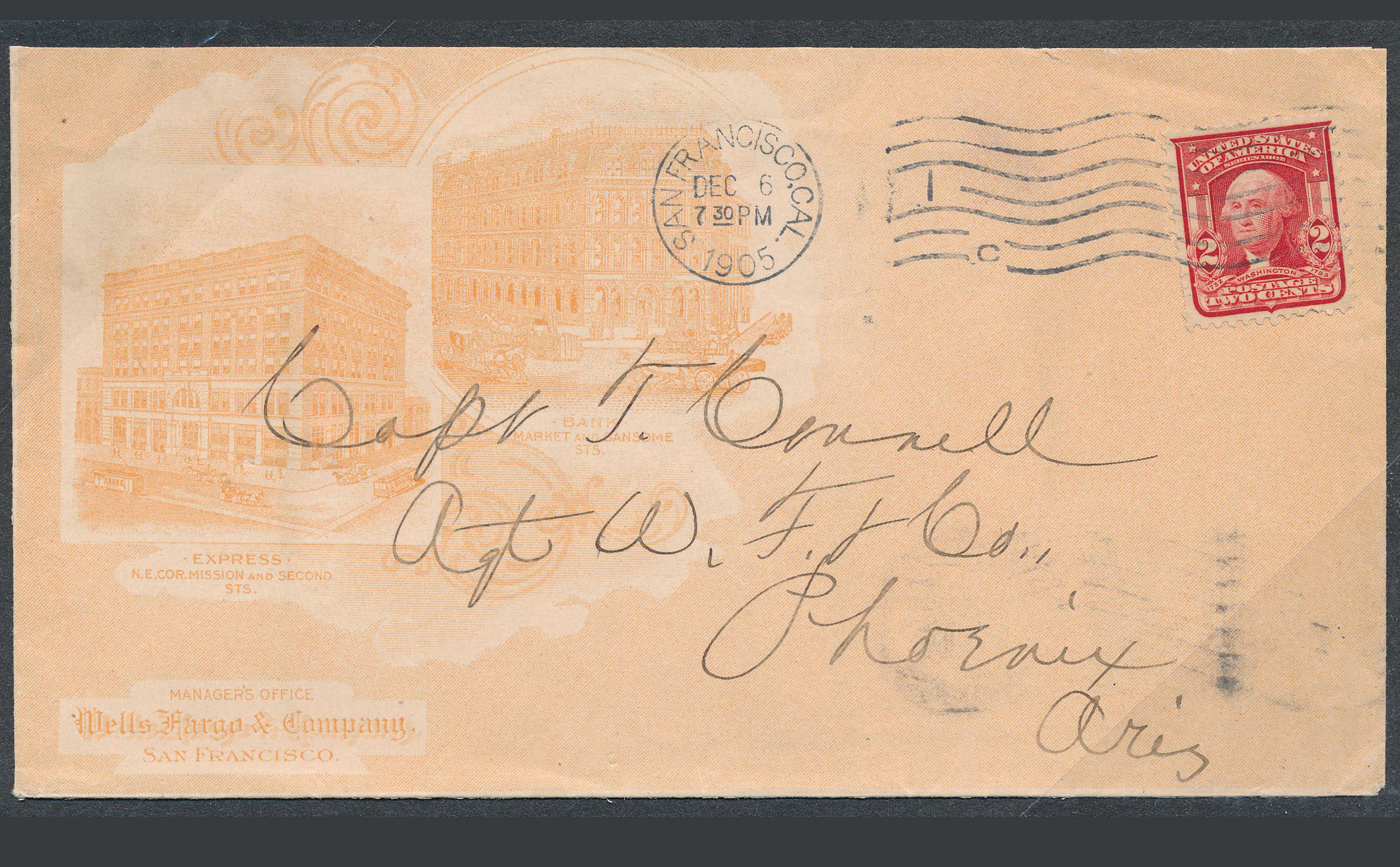 0085 2 Covers Wells Fargo To Florance US Postal To Phoenix B