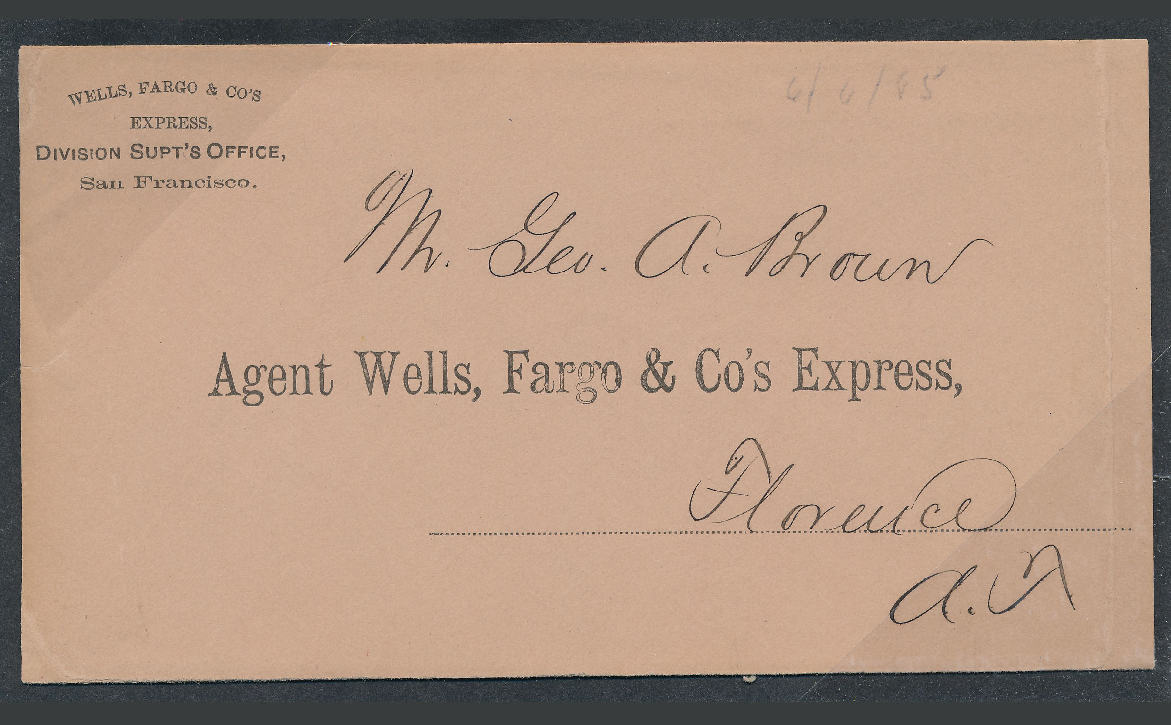 0085 2 Covers Wells Fargo To Florance US Postal To Phoenix T