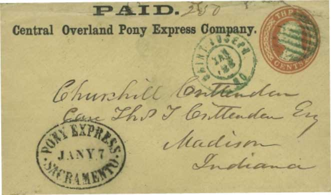 WC11562 SACRAMENTO, PONY EXPRESS 15 2