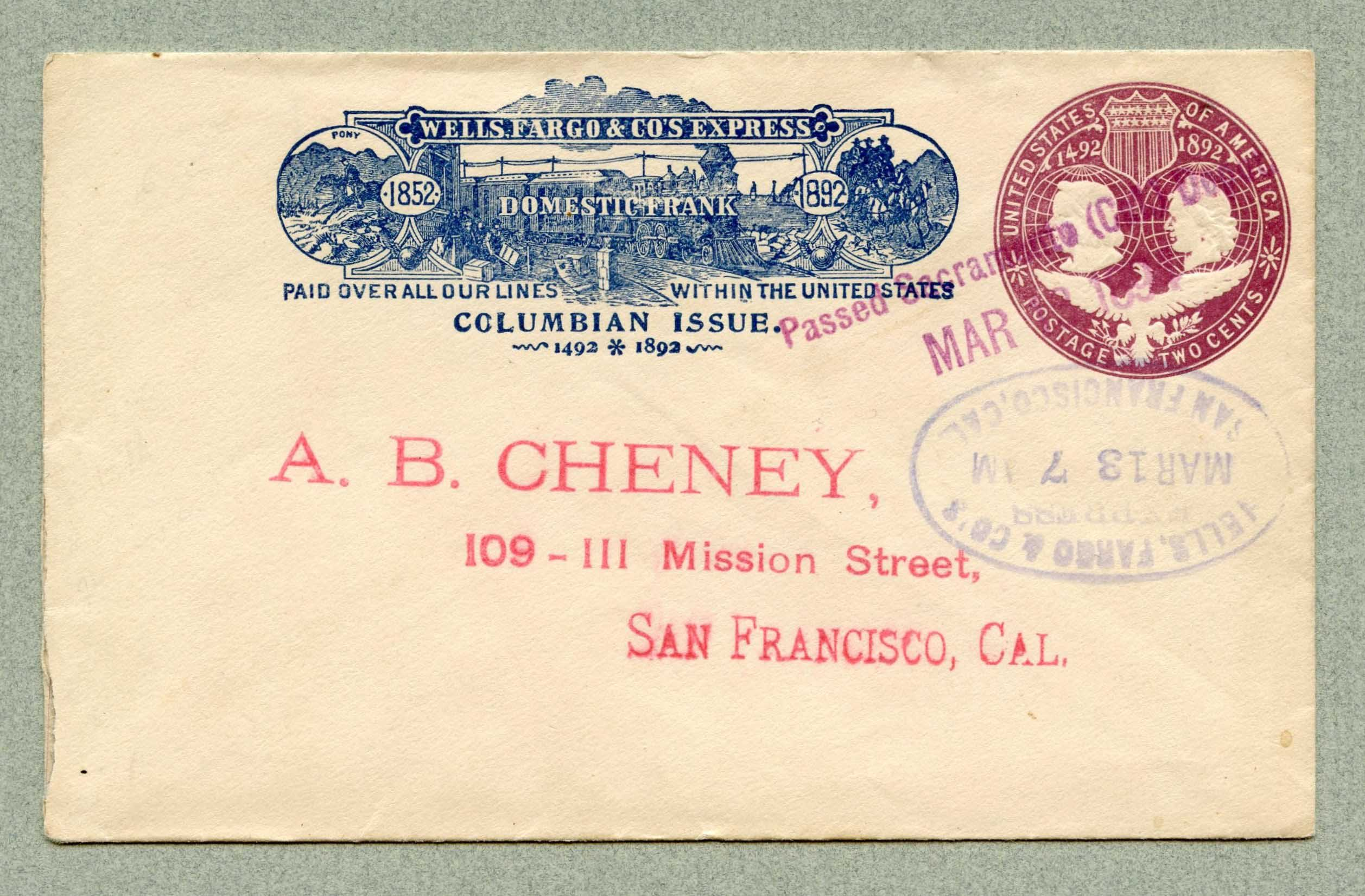 WC11641 SAN FRANCISCO, CA 19 3,bl U349