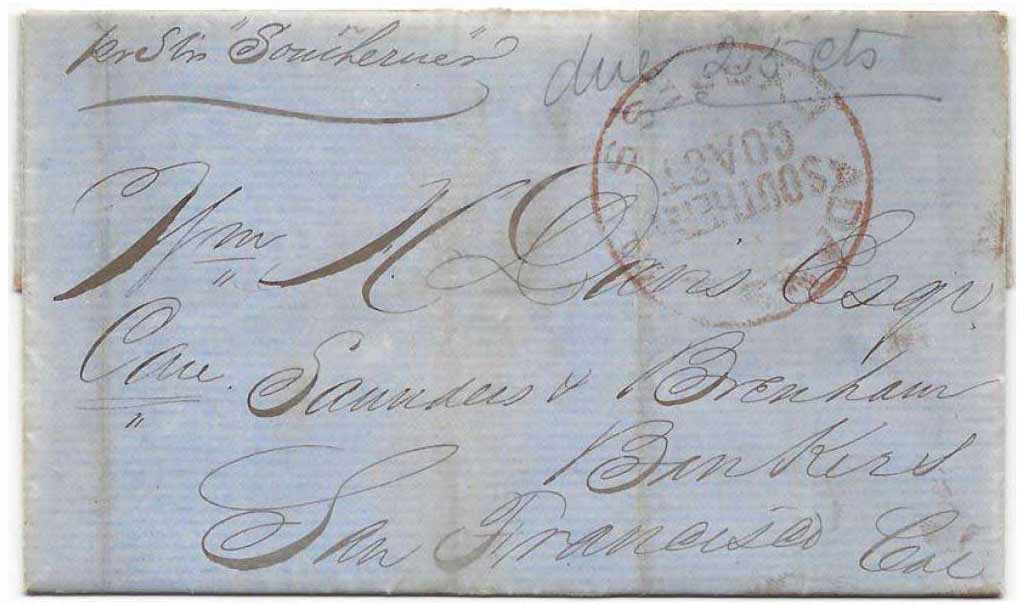 Adams & Co. Express Coloma to Mormon Island on July 8th, 1852