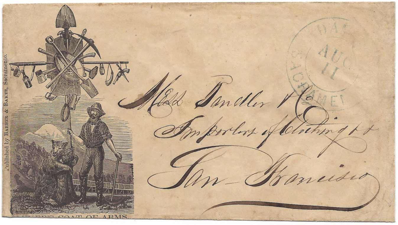Adams & Co. Sacramento Aug 11 (circa 1853)