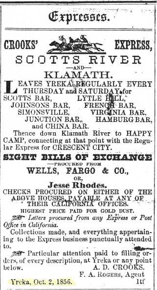 Crooks' Express Scotts River and Klamath