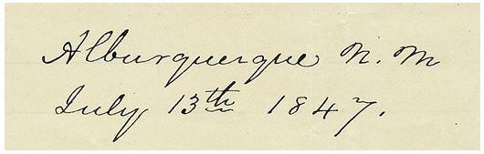 Albuquerque, N. M. July 13th 1847.