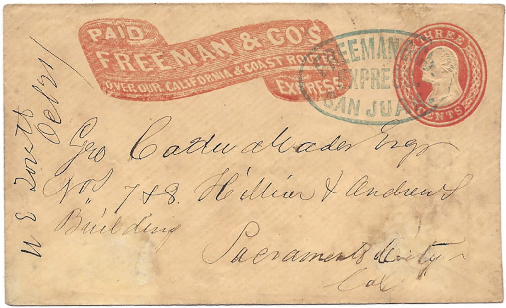 Paid By Freeman & Co.'s Over our California & Coast Routes