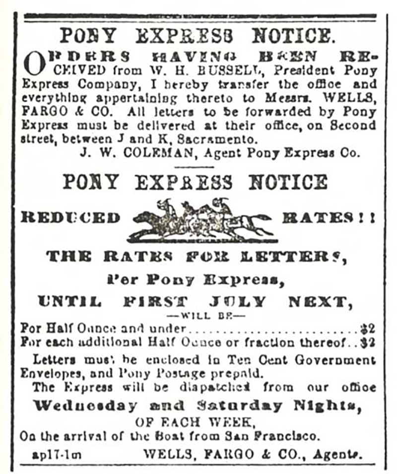 Advertisement from the Sacramento Daily Union