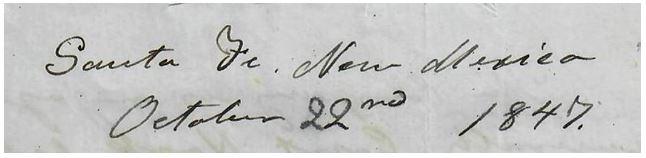 Santa Fe October 22, 1847