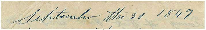 September the 30 1847
