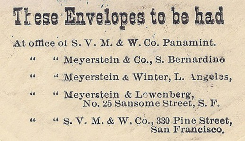 Ad from the Sacramento Daily Union - These envelopes to be had...