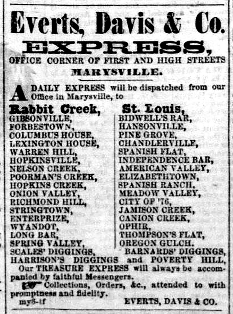 Everts, Davis & Co. Express Office Corner of First and High Street