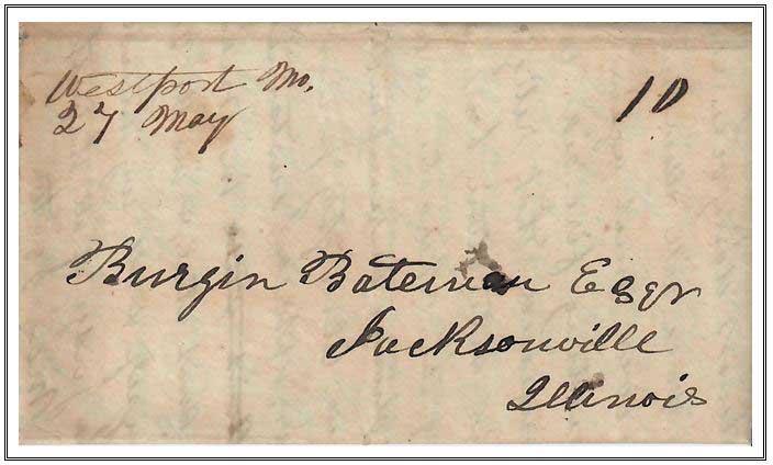 Figure No. 43 May 27, 1848 Westport Missouri