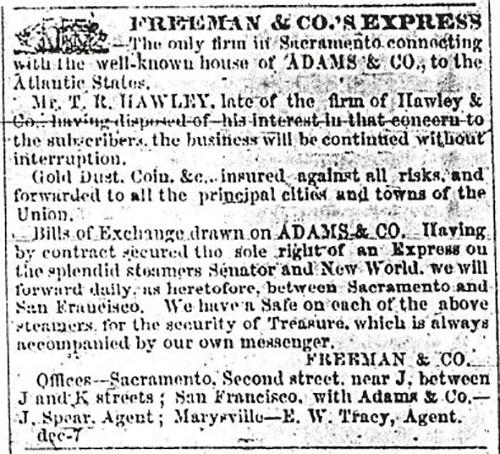 Freeman & Co.'s Express Ad