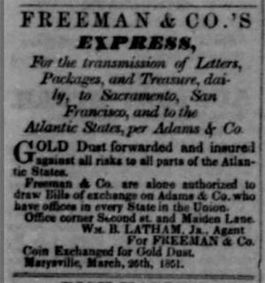 Freeman & Co.s Express Advertisement