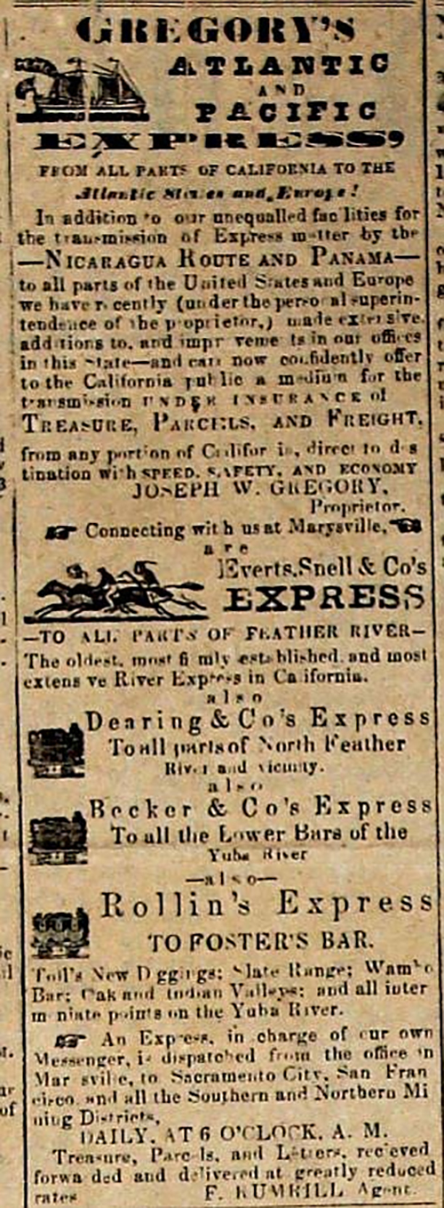 Gregory Atlantic and Pacific Express, Aug 28, 1852