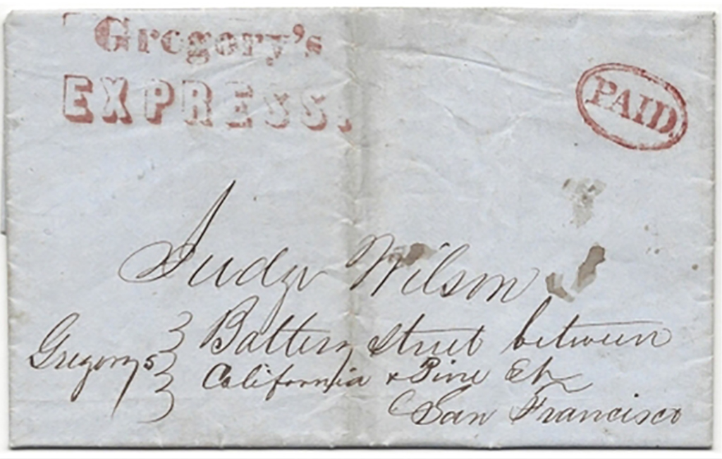 Gregory's Express with PAID from Shasta to San Francisco