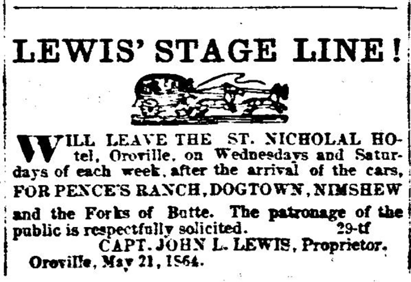 Lewis Stage Line Ad