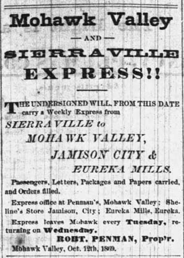Mohawk Valley and Sierra Ville Express