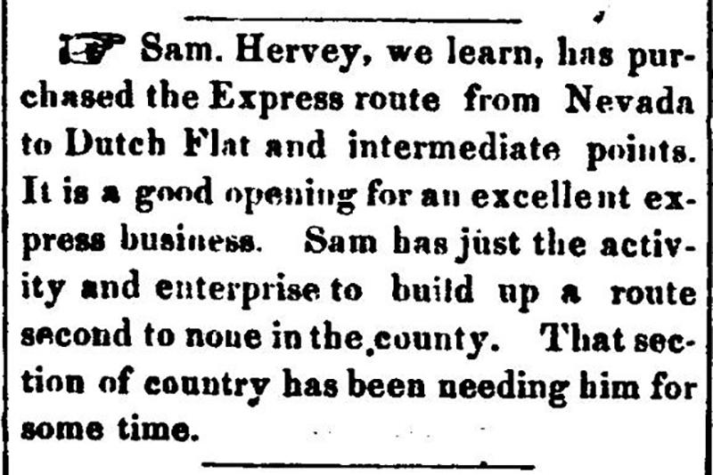 Nevada City Democrat 1858 info