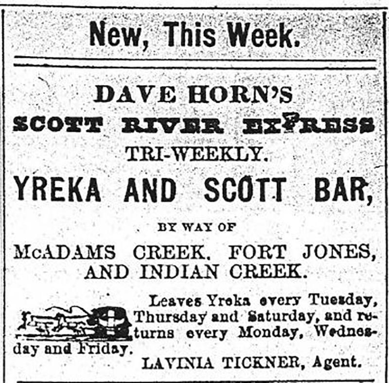 Dave Horn's Scott River Express Ad