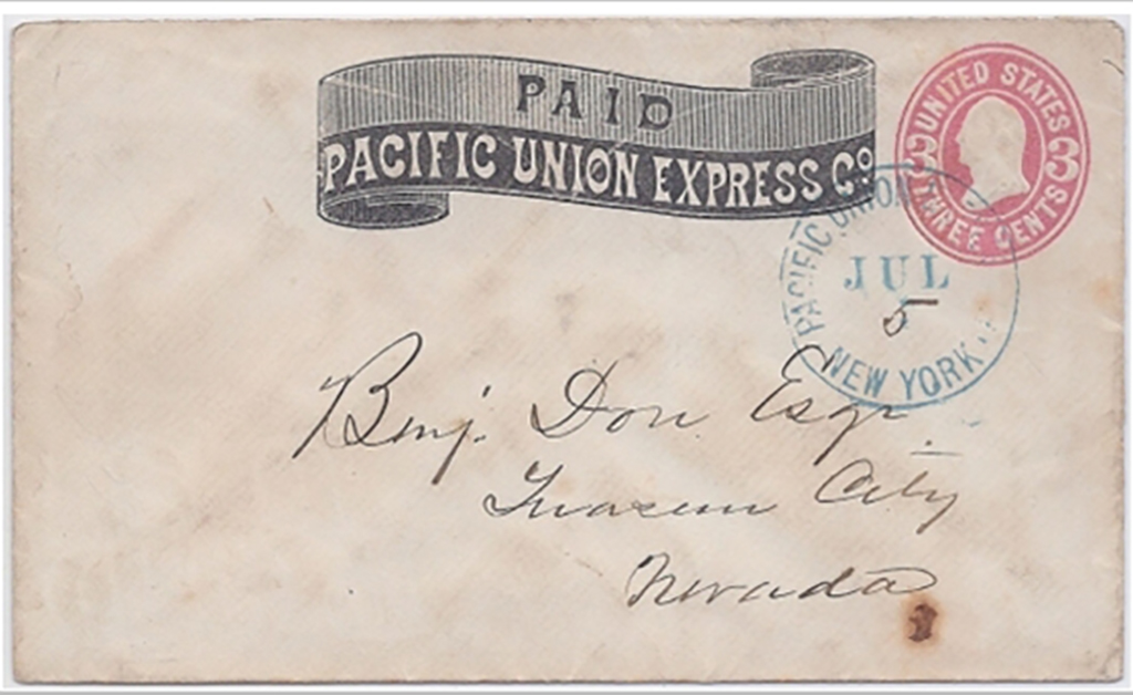 Pacific Union Express Co. New York July 5