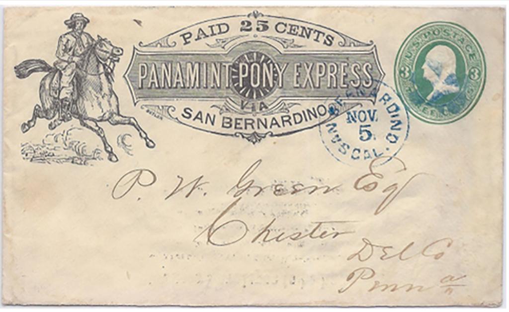 Panamint Pony Express Paid 25 cent San Bernardino