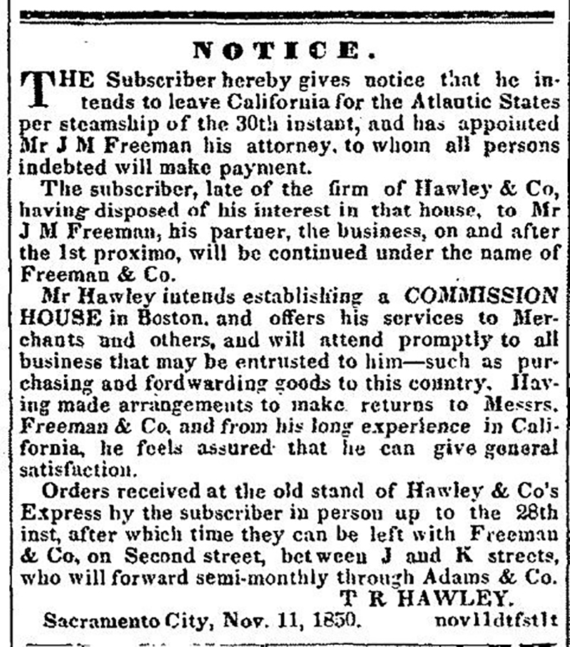 Sacramento Transcript 1850